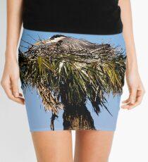 Blue Heron in Nest Mini Skirt