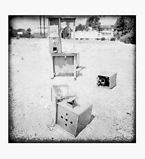 Gumball Machine Destruction in BW Photographic Print