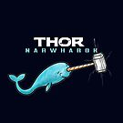 Hammer of Thor Narwharok Narwhal Funny Graphic Parody  by DesIndie