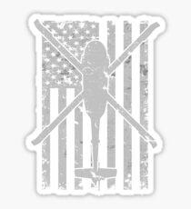 UH60 Blackhawk Vintage Flag Design Sticker