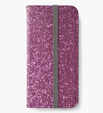 Pink Lavender Glitter with Silvery Highlights iPhone Wallet/Case/Skin