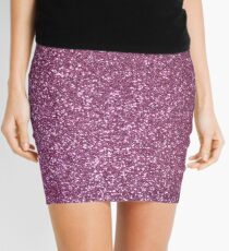 Pink Lavender Glitter with Silvery Highlights Mini Skirt