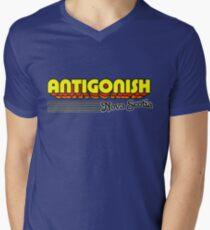 Antigonish, Nova Scotia | Retro Stripes Men's V-Neck T-Shirt