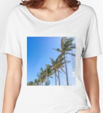 Palm Trees, Blue Sky Relaxed Fit T-Shirt