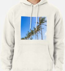 Palm Trees, Blue Sky Pullover Hoodie
