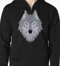 Timber Wolf Zipped Hoodie