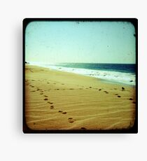 BEACH BLISS - Footprints Canvas Print