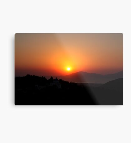 Zia Sunset Metal Print