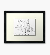 """Pioneer plaque """"Womanizer"""" Framed Print"""