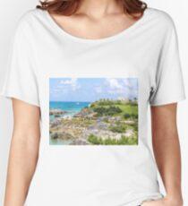 Green hills, blue sky, blue ocean Relaxed Fit T-Shirt