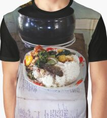 Buddhist Monastery Food Offering Graphic T-Shirt