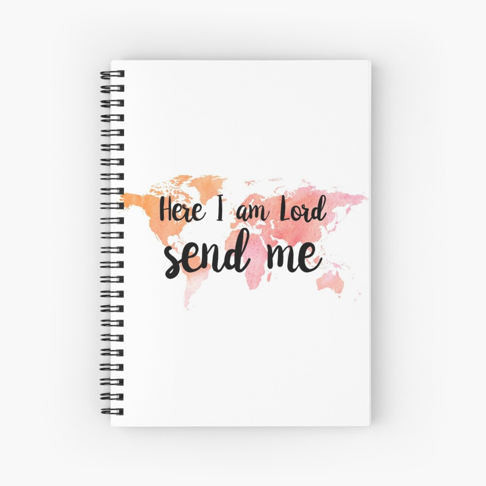 Christian Quote Isaiah 6:8 Spiral Notebook