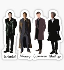 Doctor Who Catchphrases Sticker