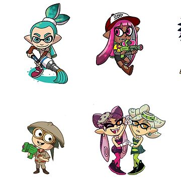 8 Squid Kid Stickers by paledogstudios