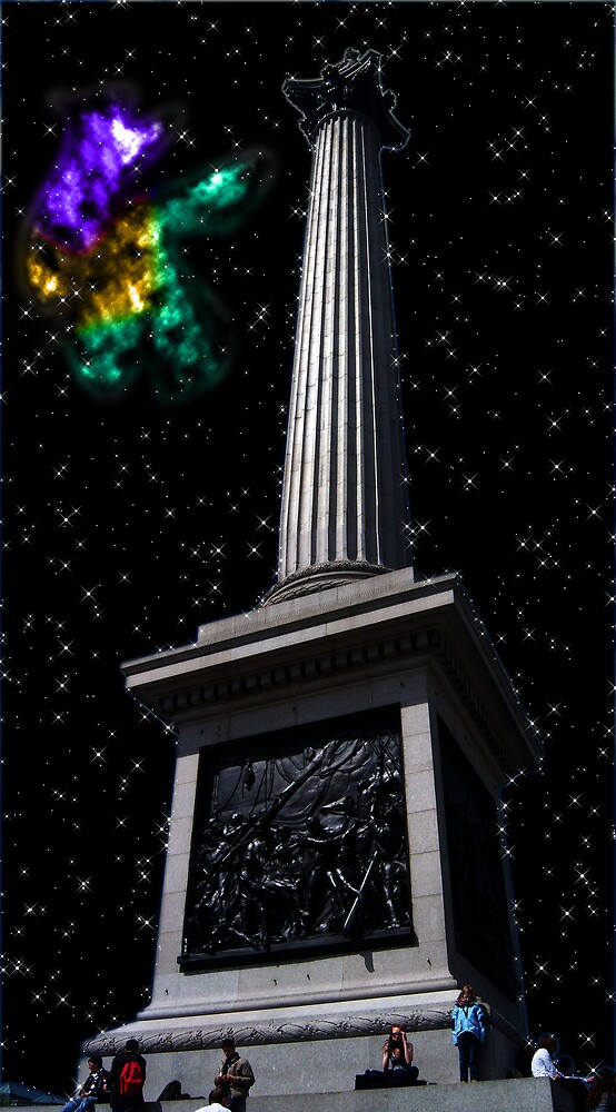 A Nebula At Nelsons Column by Nathan Walker