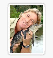 Steve and Baby Gator Sticker