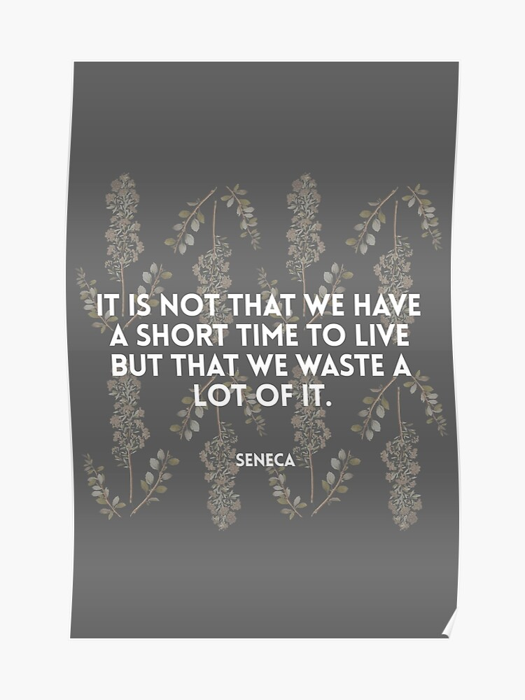 Seneca Quote On The Shortness Of Life Poster By Savantdesigns