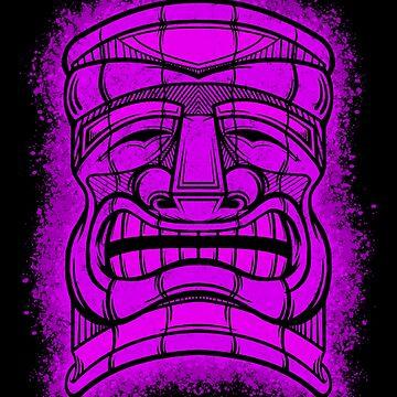 Tiki Head 3 by JCoulterArtist