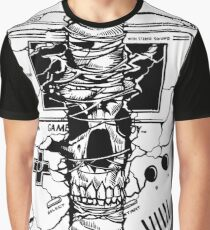 Dead Skull Handheld Arcade Jump & Run Video Game Graphic T-Shirt