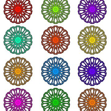 Color Wheel Flowers by TheArtArmature