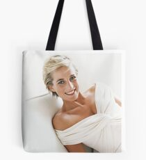 Lady Di in white gown Tote Bag
