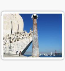 Lisbon 2011, Monument of Discoverers in Belem #2 Sticker
