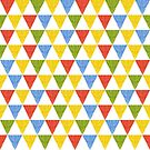 triangle abstract ethnic pattern by Elsbet