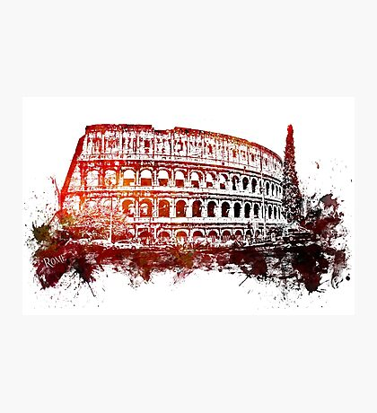 Rome, Colosseum skyline Photographic Print
