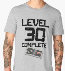 Level 30 Complete Video Gamer Nerd Or Geek 30th Birthday Gift  Men's Premium T-Shirt