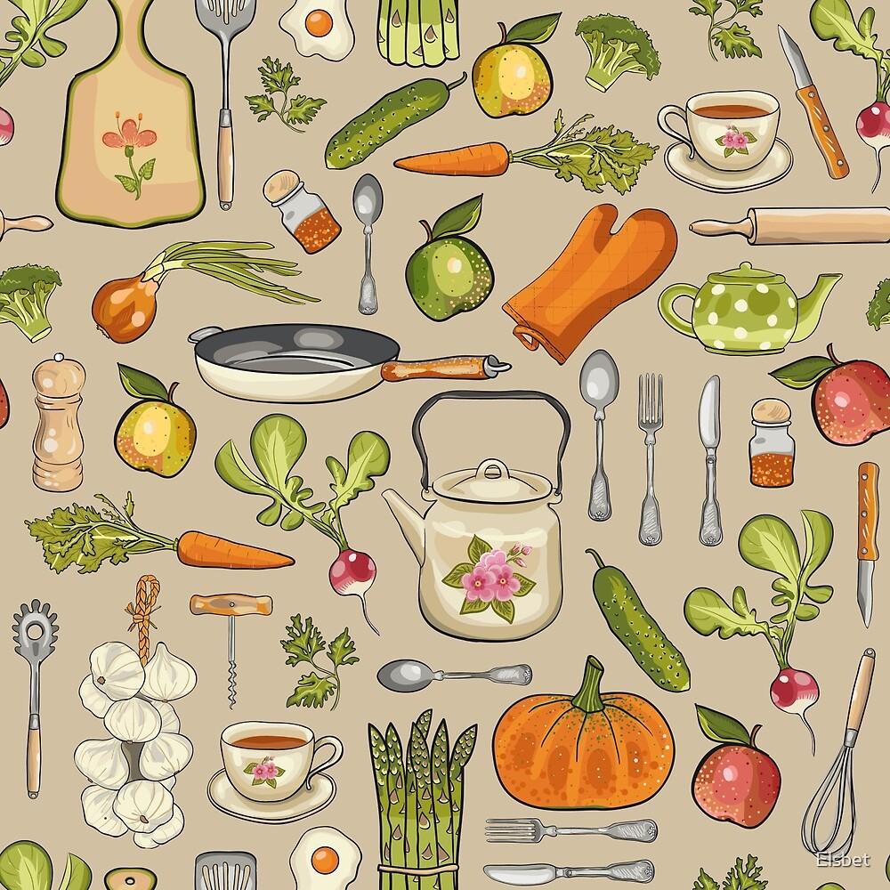 Retro kitchen. by Elsbet