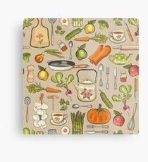 Retro kitchen. Metal Print