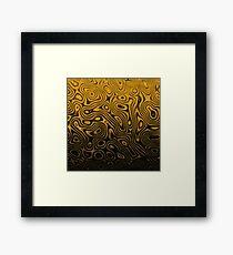 Golden Nocturne - Original Abstract Design Framed Print
