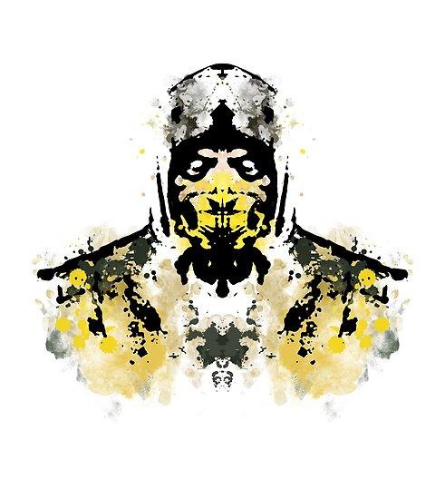 Rorschach Scorpion Mkx Version Posters By Normalsizeddeet Redbubble