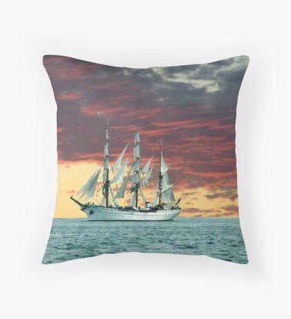 Quiet Evening at Sea Throw Pillow