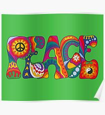 Psychedelic Peace Poster