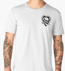 Skull and heart black  Men's Premium T-Shirt
