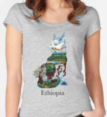 Abyssinian cat - Ethiopia Women's Fitted Scoop T-Shirt