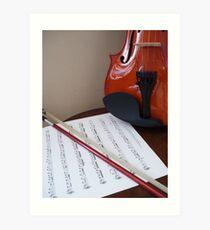 Violin lesson Art Print