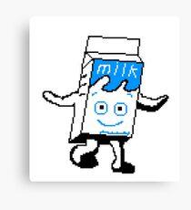 Milky Blur pixel art Canvas Print