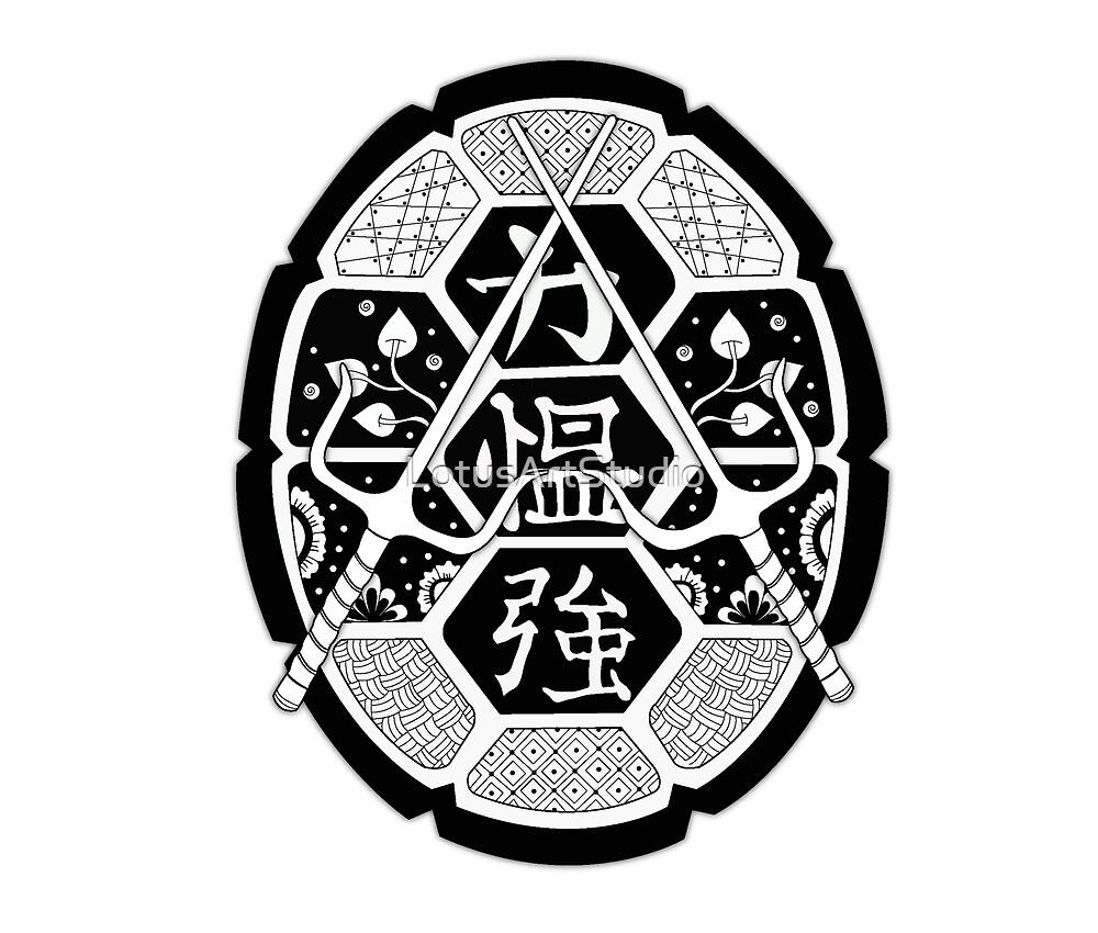 TMNT Shell Mandala Black by LotusArtStudio