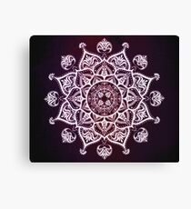 Purple Glowing Moon Blossom Canvas Print