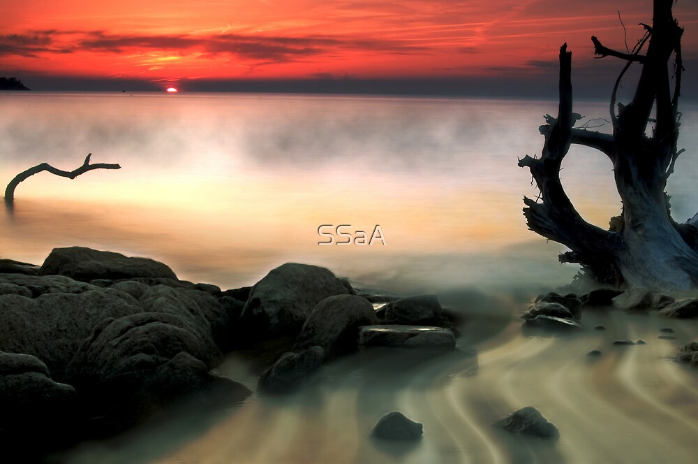 Sunset at Edgewater Park by SSaA