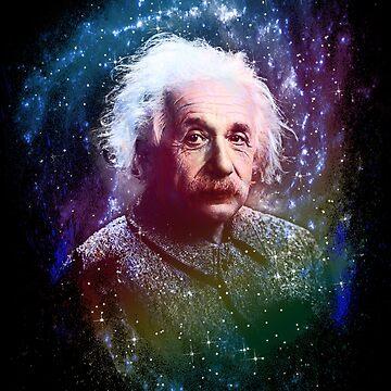 Albert Einstein Pop Art by PixelBoxPhoto