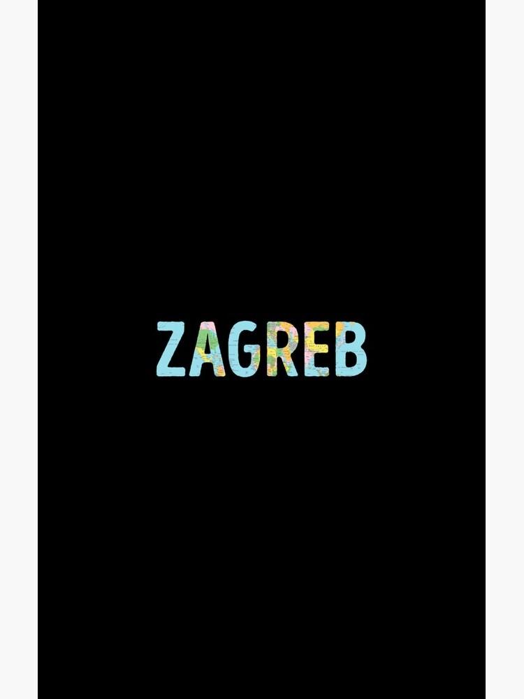 Zagreb World Map - Cool Croatia Traveler Gift von TheTeeMachine
