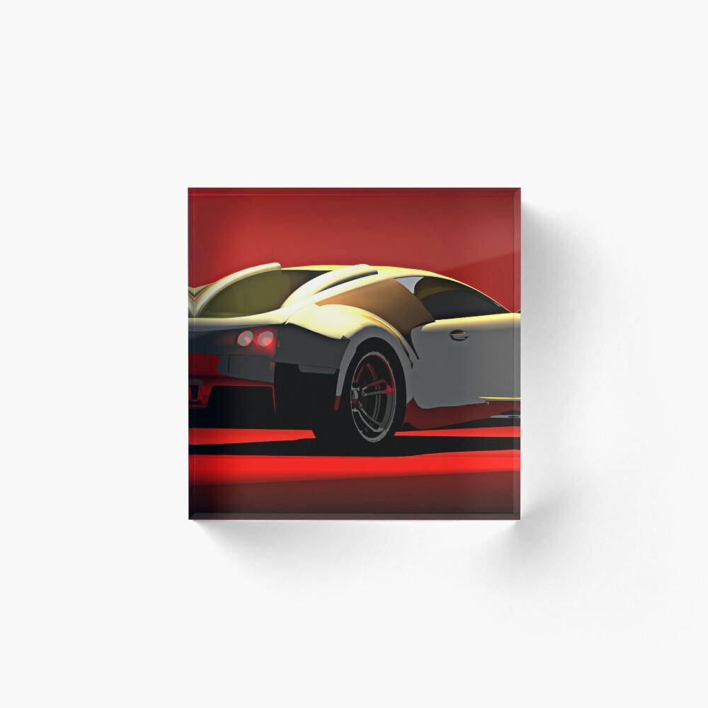 Bugatti Veyron Acrylic Block