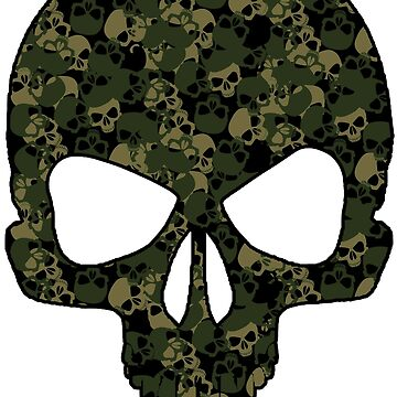 Camo Skull (green) by PixelBoxPhoto