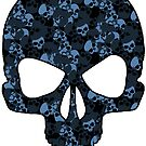 Camo Skull (blue) by PixelBoxPhoto