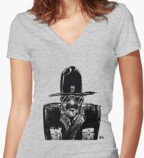State Trooper Women's Fitted V-Neck T-Shirt