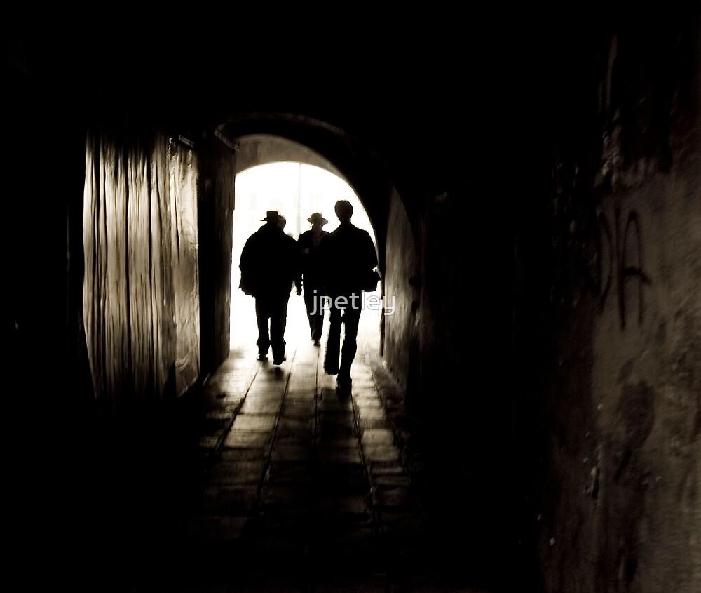 Walking through a Venice tunnel by jpetley