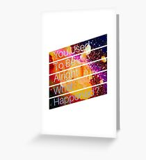 15 Steps: What Happened? Greeting Card